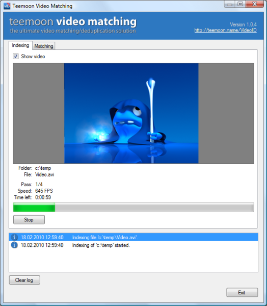 Click to view Teemoon Video Matching 1.0.5 screenshot